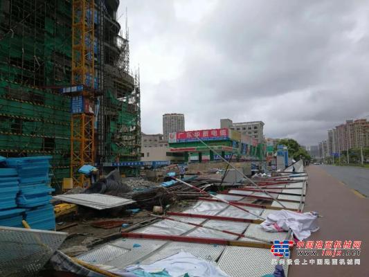 """台风""""海高斯""""过后,易山租赁迅速出击,守护城市卫生!"""