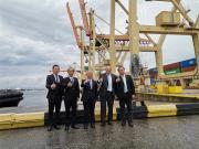 大使、部长现场见证!三一大型岸桥波罗的海完美交付
