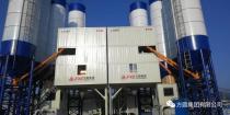 方圆集团箱式皮带HZS120型混凝土搅拌站服役中交某公司高速项目