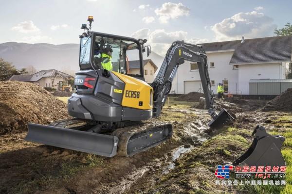 【海外新品】沃尔沃建筑设备推出紧凑型挖掘机 ECR58