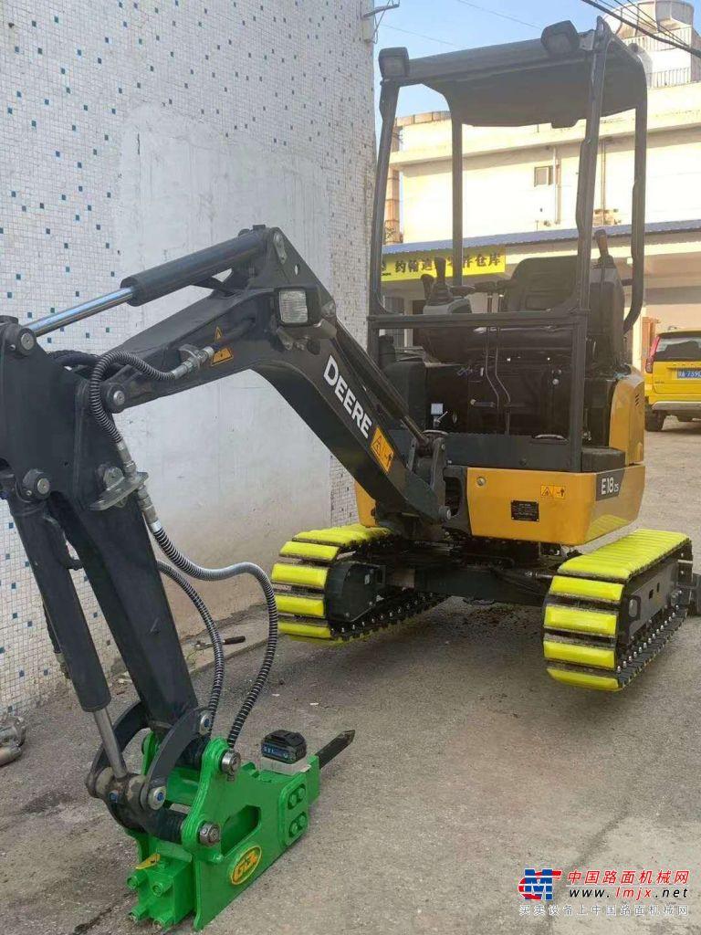提机报告:喜提今年第二台约翰迪尔E18zs挖掘机