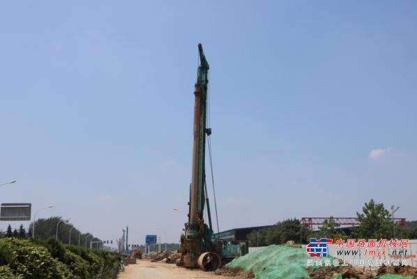 強悍表現贏青睞!山河智能360H旋挖鉆助力南京312國道改擴建