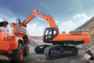 斗山在沙特成功签订10台50吨大型挖掘机订单