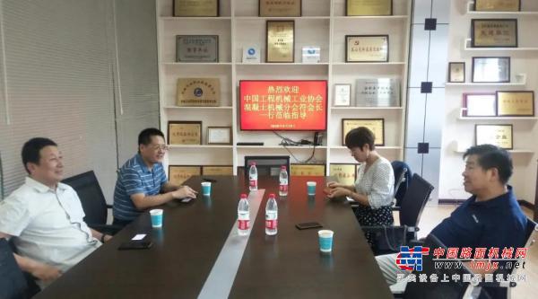 中国工程亚搏直播视频app工业协会混凝土亚搏直播视频app分会符忠轩会长一行调研岳首筑机