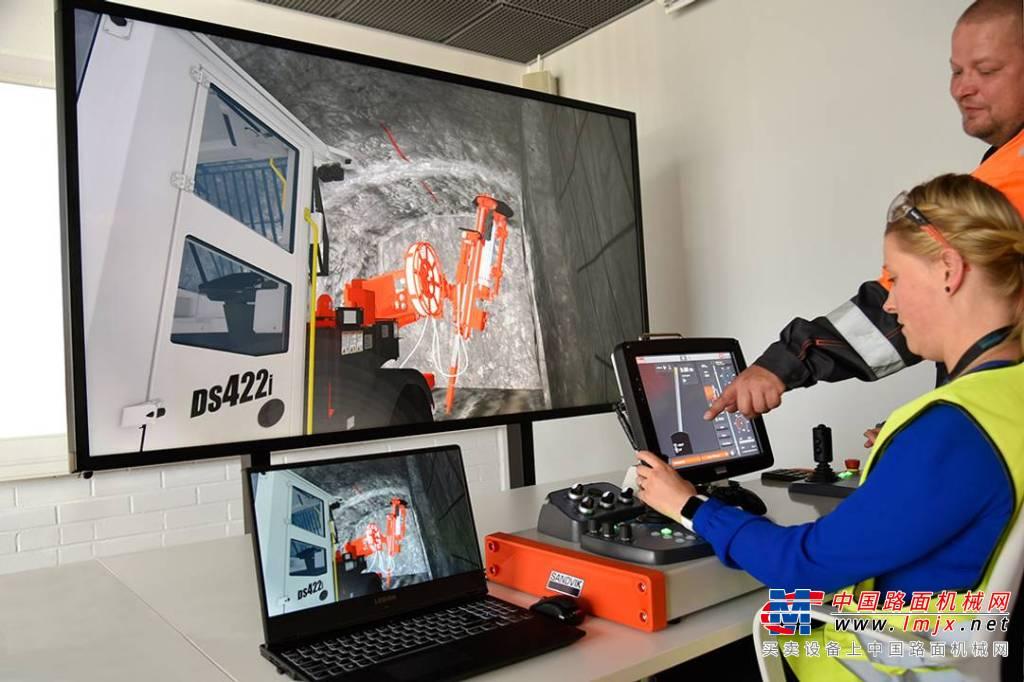 山特维克提供新版数字钻机操作员培训模拟器