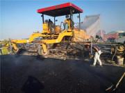 江西奉新县PPP项目采用中大抗离析摊铺机进行沥青碎石摊铺
