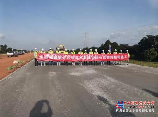 中交西筑喜讯:柬埔寨金边项目三标水稳试验段顺利完成