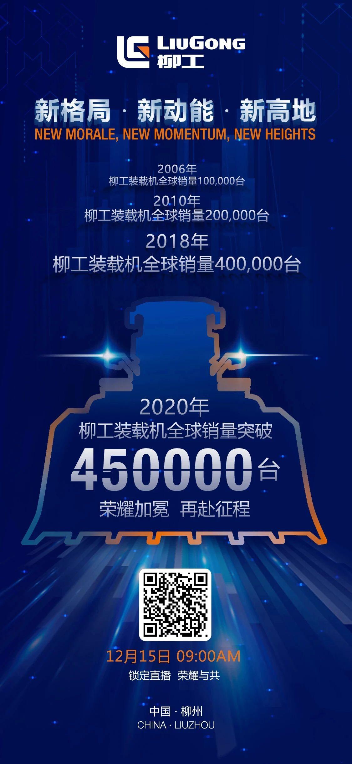 直播预告   柳工装载机全球销量突破45万台!