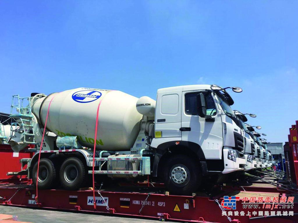 一带一路丨中联重科产品持续畅销东南亚 搅拌车批量交付菲律宾