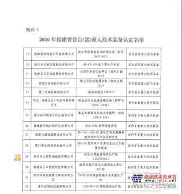 品牌殊荣丨三联机械产品荣获省首台(套)重大技术装备认定
