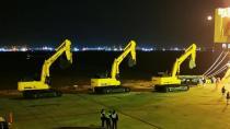 柳工15台大型机助力西非国家水利建设