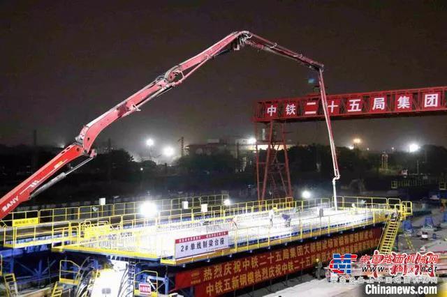 助力大湾区!三一混凝土设备参建广州白云站特大交通枢纽建设