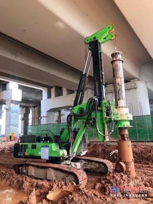 泰恒低净空旋挖KR300ES助力深圳基础建设