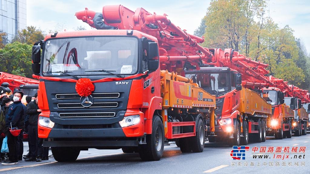 牛年开门红!超10亿三一装备大发货,车队绵延3公里!