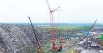 三一重工:118米!SCC3200A-1吊装全世界跨度最大的木结构建筑之一