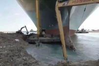 """CAT®(卡特)挖掘机参与苏伊士运河""""被堵""""救援"""