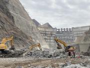 柳工挖掘机参与在建世界最大水电工程白鹤滩水电站