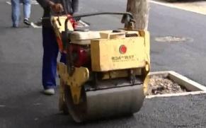 路得威 RWYL22 小型高配置手推式单钢轮压路机 施工视频