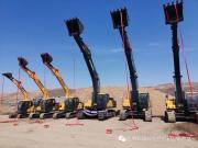 现代挖掘机批量采购交付仪式圆满成功