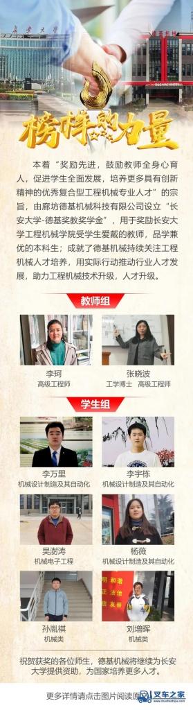 """""""德基奖教奖学金""""在长安大学再竖榜样!"""