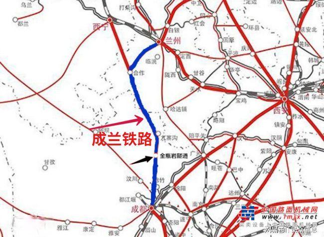 """成兰铁路建设热火朝天,堪称第二条""""青藏铁路"""""""