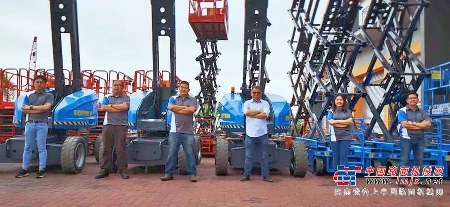 价值引领 聚·变远航——星邦电动臂车惊艳亮相东南亚市场