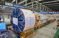 """浙产最大盾构机下线,4300吨的""""之江号""""助力基建狂魔"""