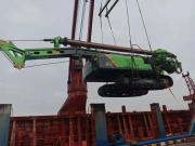 江苏泰信KR125A旋挖钻机首次进驻尼泊尔首都加德满都