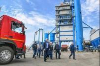 俄罗斯鞑靼斯坦共和国总统参不雅南方路机沥青搅拌设备
