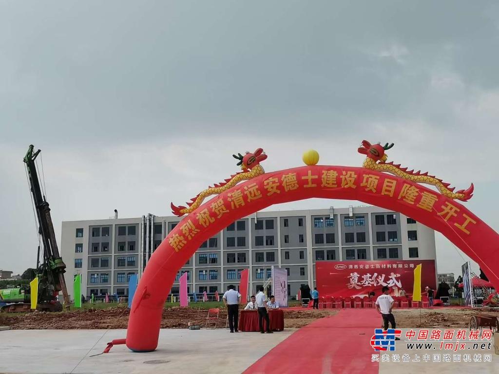 泰信机械多型号旋挖钻机助力广清产业园基础建设