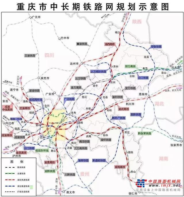 重庆11条铁路(含10条高铁)推进情况!部分线路建设方案还需完善