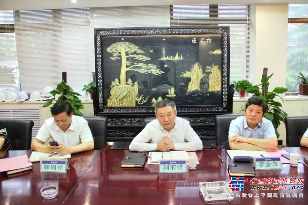 河南省公路工程局集团董事长刘前进一行到访西筑公司