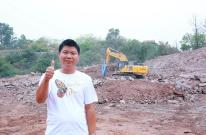 柳工CLG956EHD实力卓绝,强悍设备助力广东河源校园翻建工程