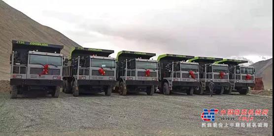 霸气!极光绿扮靓4000米高原 中联重科矿卡批量交付西北客户