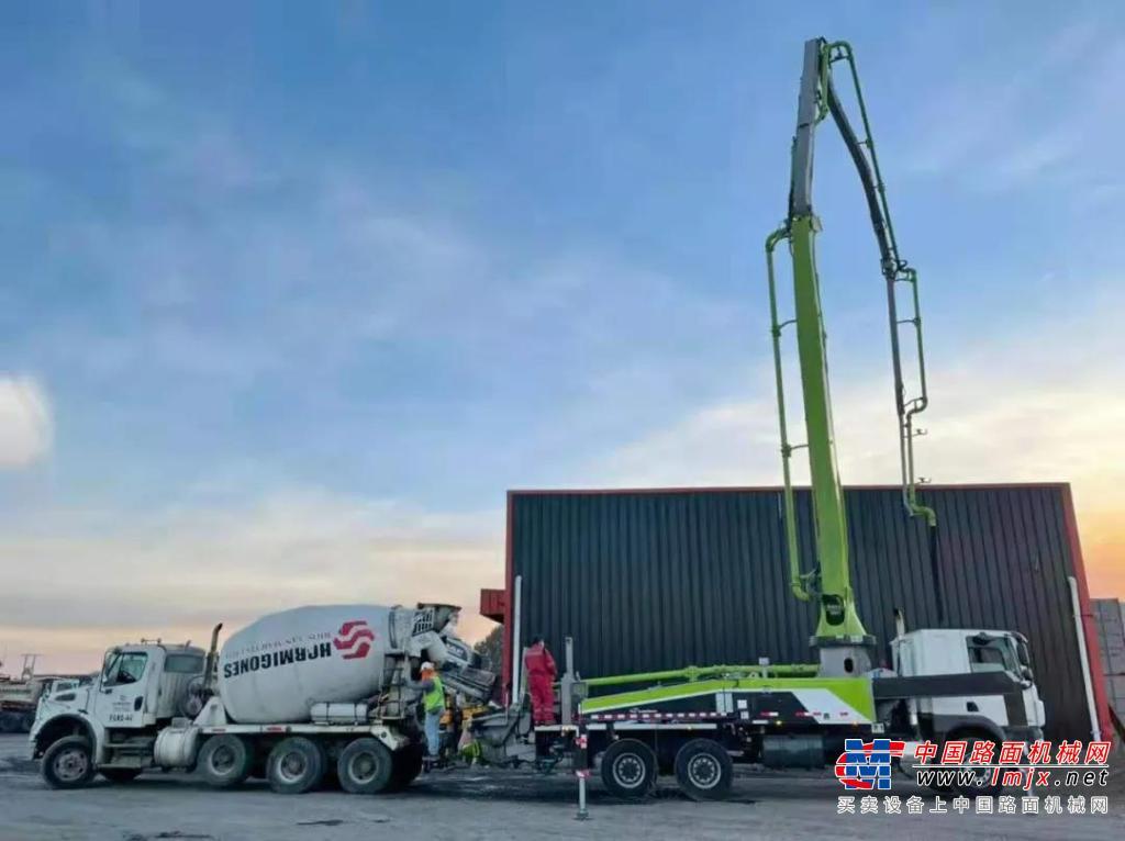 亮相智利!中联重科全新4.0泵车海外市场再突破