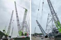 """中联重科履带吊""""双雄"""",助力中核机械工程完成巴陵恒逸项目部首个设备吊装"""