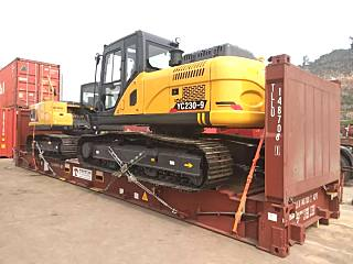 玉柴YC230-9新款挖掘机首次出口新西兰