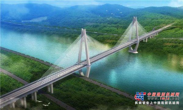 徐工XR550D征战世界宽度最大公铁两用桥--临港长江大桥