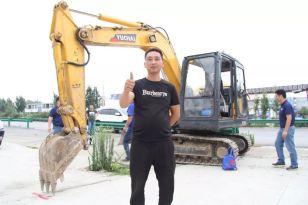 安徽淮安用户肖老板:我的三台玉柴挖掘机品质非常过硬!