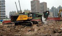 沃尔沃超大型挖掘机EC950EL在湖北省重点工程交付