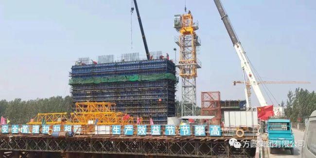 方圆TC6015A型塔机服役黄河大桥建设工程