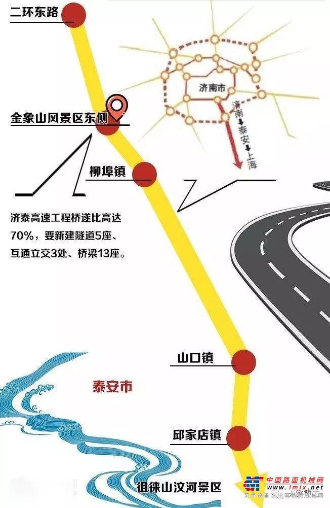 天路重工助力濟泰高速公路建設