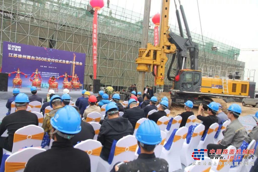 徐工旋挖钻机再谱故乡恋歌,助力徐州地铁建设