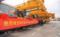 蓬勃进发在冬季︱13台徐工起重机批量交付郑州基业吊装
