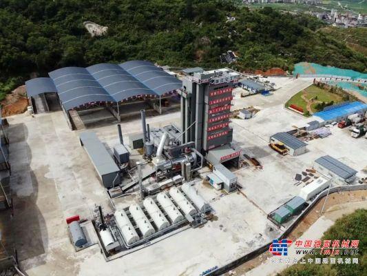 晋南地区首套西筑SG5000型环保沥青搅拌设备拔地而起