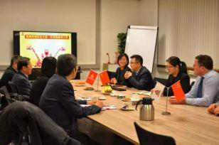 中国驻荷兰徐宏大使一行新年走访临工重机欧洲有限公司