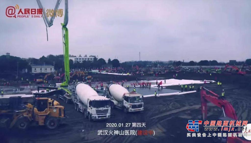 武汉火神山援建战报|雷萨重机:参建第3天 圆满完成既定施工任务!