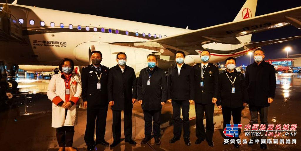 跨越萬里的愛!三一動用專機從迪拜運回42000套醫用防護服