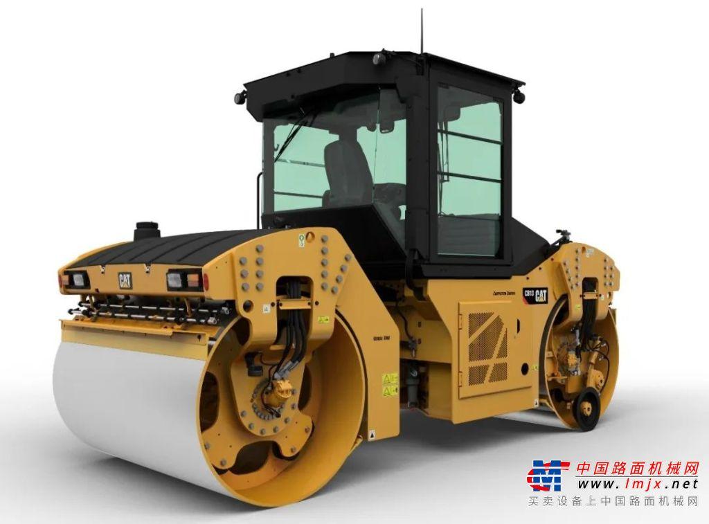 Cat®(卡特)CB13双钢轮压路机:中国沥青路面全天候压实专家