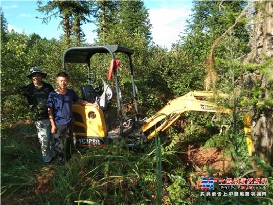茶园张老板:玉柴微挖代替人工的好帮手